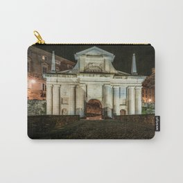 Front view of Porta San Giacomo in the upper city of Bergamo. Night cityscape. Carry-All Pouch