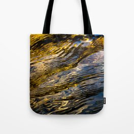River Ripples in Copper Gold and Brown Tote Bag