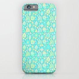 Turquoise paisley iPhone Case