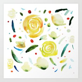 dance flowers Art Print