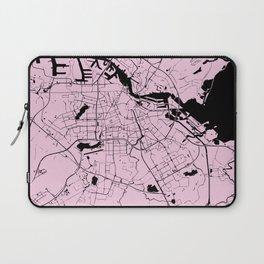 Amsterdam Pink on Black Street Map Laptop Sleeve