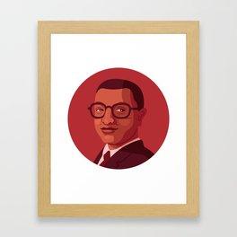 Queer Portrait - Billy Strayhorn Framed Art Print