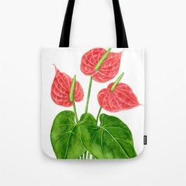 Flamingo flower watercolor Tote Bag
