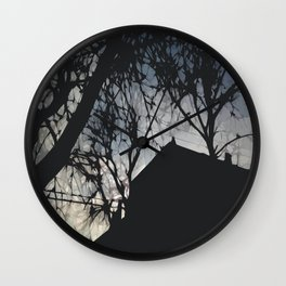 Chicago Sundown  Wall Clock
