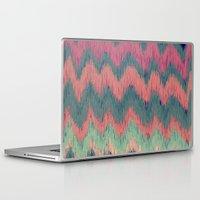 ikat Laptop & iPad Skins featuring IKAT CHEVRON by Nika