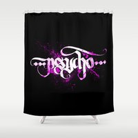 psycho Shower Curtains featuring Psycho by noistromo