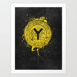 NYC Token (Black) Art Print