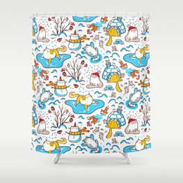 Winter Cats Shower Curtain