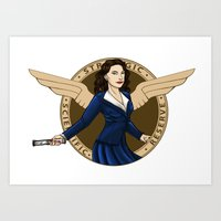 agent carter Art Prints featuring Agent Carter by Arania