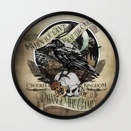 Crooked Kingdom - Change The Game Wall Clock