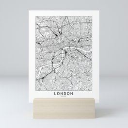 London White Map Mini Art Print