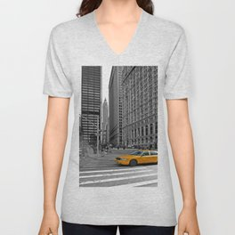 NYC - Yellow Cabs - Trinity Place Unisex V-Neck