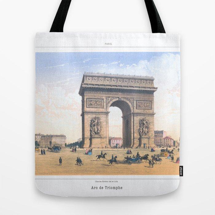 Paris art print Paris Decor office decoration vintage decor ARC DE TRIOMPHE  of Paris Tote Bag