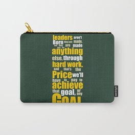 Lab No. 4 - Vince Lombardi Sport Inspirational Quotes Typography Poster Carry-All Pouch