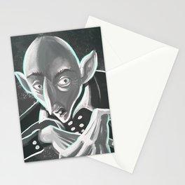 creepy spooky nosferatu Stationery Cards