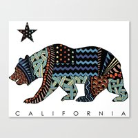 california Canvas Prints featuring California by TAM ♡