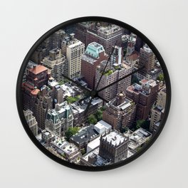 Roofs of New York. Wall Clock