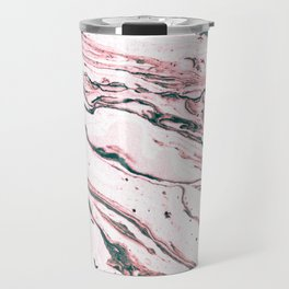 Minimal Marble Pattern with Glitter Details Travel Mug
