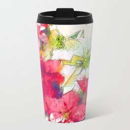 Mixed color Poinsettias 1 Serene Travel Mug
