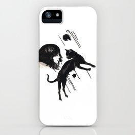 Black Pixel cat  iPhone Case