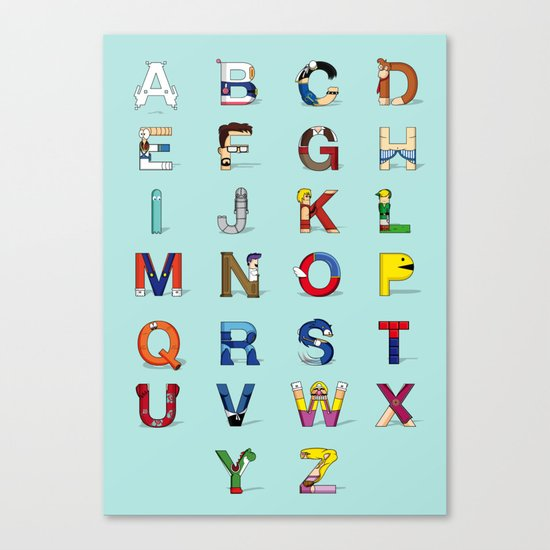VGC alphabet Canvas Print