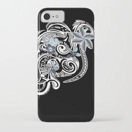 Hawaiian Platinum Floral Tribal Threads iPhone Case