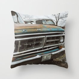 Vintage Ford Throw Pillow