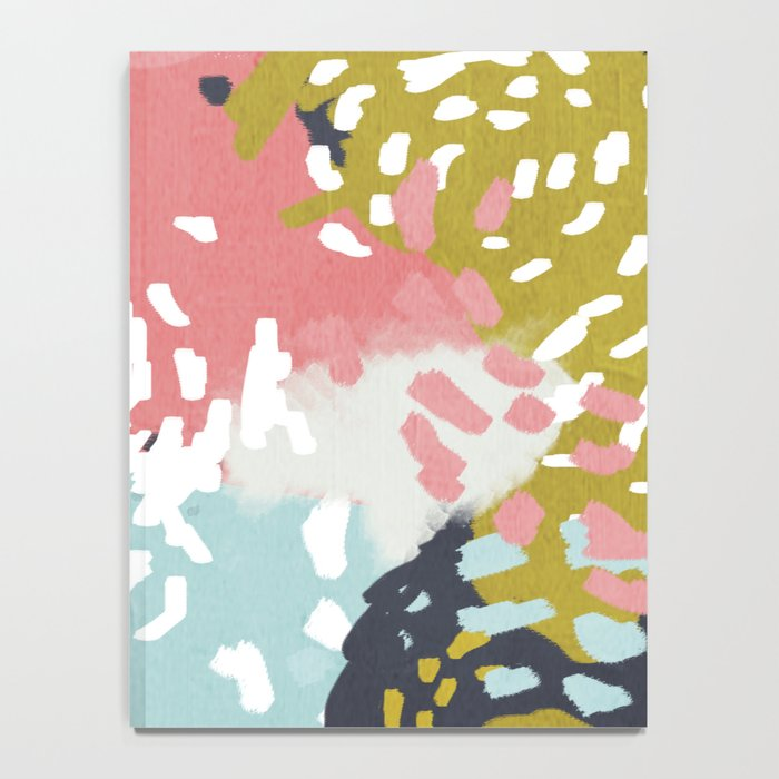 Athena - Abstract, pink, pastel, yellow, blue painting, abstract cell phone case, painterly design Notebook
