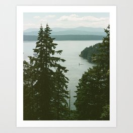 Galiano Art Print