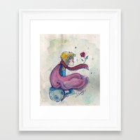 little prince Framed Art Prints featuring Little prince by Nikolazza
