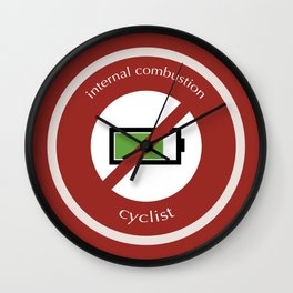 No E-Bike No Battery Wall Clock