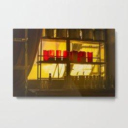 Backlit Glass Metal Print
