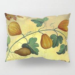Vintage Botanical Collage, Autumn Pumpkins Pillow Sham