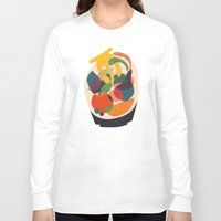 fruits Long Sleeve T-shirts featuring Fruits in wooden bowl by Picomodi