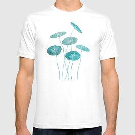 whorled umbrella plant leaf watercolor T-shirt