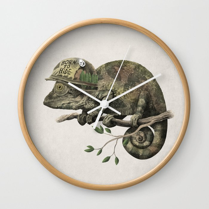 Born to Hide Wall Clock