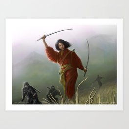 Mother of Blades Art Print