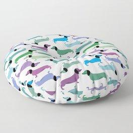 Dachshunds, dachshunds, wiener dog Floor Pillow