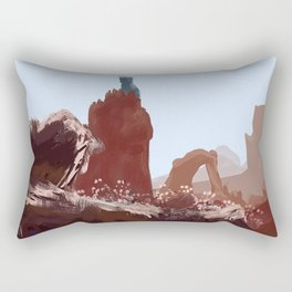 The Blue Tower Rectangular Pillow
