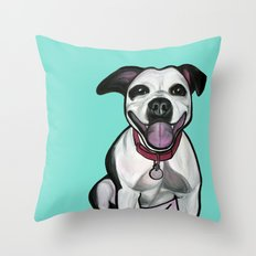Dolce the Pitbull Throw Pillow
