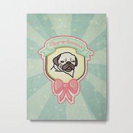 Pug-o-licious Metal Print