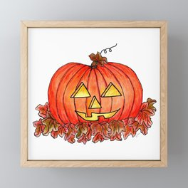 Jack-o-Lantern Framed Mini Art Print
