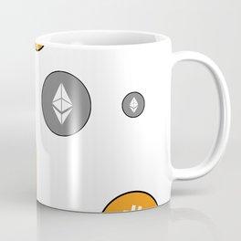 Ethereum and Bitcoin Pattern Coffee Mug