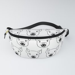 Pig Face Sketch Drawing Lover Animal  Fanny Pack