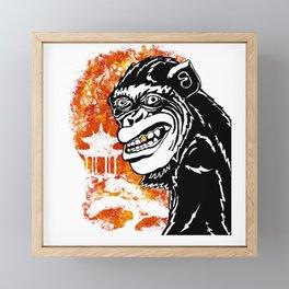 Year of the Monkey Framed Mini Art Print