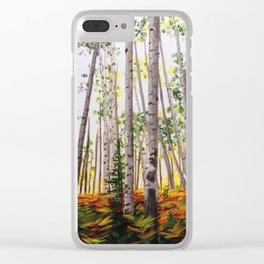 The Aspen Grove Clear iPhone Case