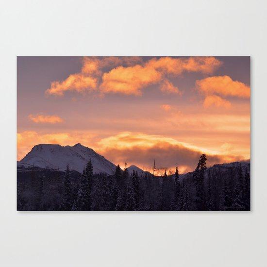 Flat Top Sunrise Canvas Print