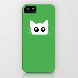 Peekaboo kitty cat iPhone Case