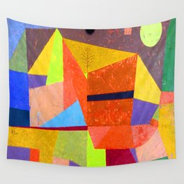 Paul Klee Mountain Landscape Wall Tapestry