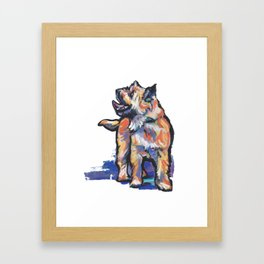 Fun Cairn Terrier Dog bright colorful Pop Art by LEA Framed Art Print